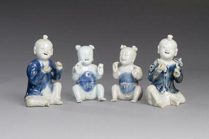 Chine, XIXe siècle  Deux paires de sujets...