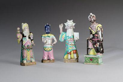 Chine, XIXe siècle  Lot comprenant quatre...