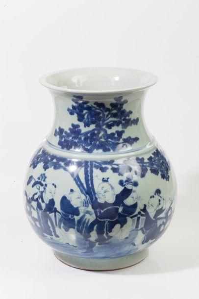 Chine, fin XIXe - début XXe siècle  Vase...