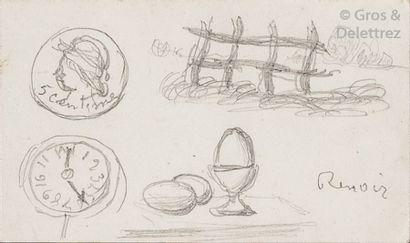 Auguste RENOIR (1841-1919) Rébus Crayon sur...