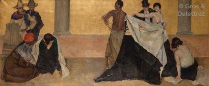 Ecole moderne, vers 1925 La danse Huile à...