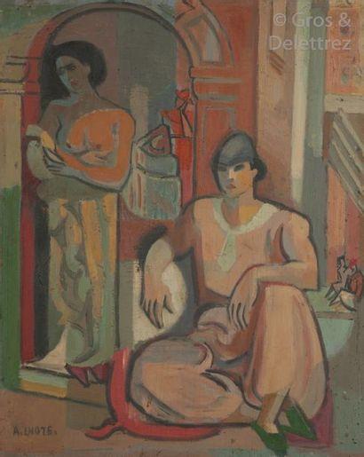 André LHOTE (1885-1962)  Deux femmes dans...
