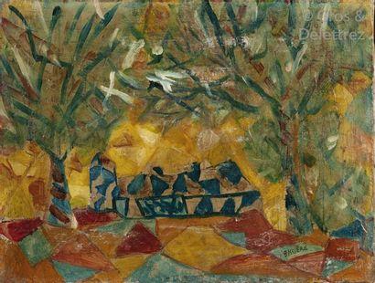 Roger BISSIÈRE (1886-1964)  Dans la forêt...