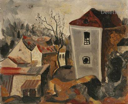 Roger BISSIÈRE (1886-1964)  Le Village du...