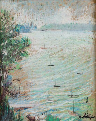Ecole française du XXe siècle Les barques...
