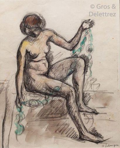Attribué à Henri LEBASQUE (1865-1937) Nu...