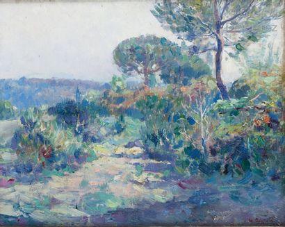 Ulisse CAPUTO (1872-1848) Paysage au sentier...
