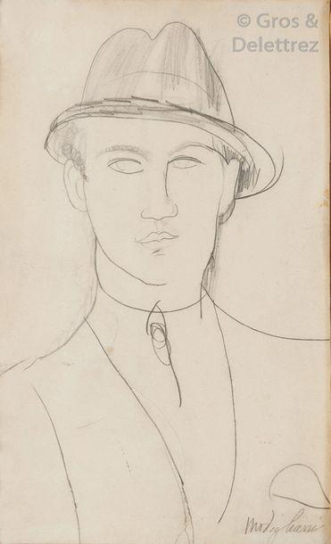 Amedeo MODIGLIANI (1884-1920)  Portrait de...