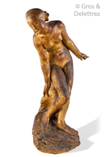 Max BLONDAT (1872-1926) Baigneuse nue Terre...