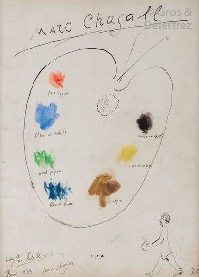 Marc CHAGALL (1887-1985) La palette et le...