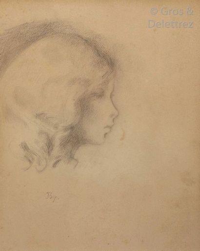 BALTHUS (1908-2001)  Portrait de Jacqueline...