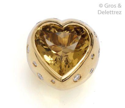 Importante bague «?Cœur?» en or jaune, ornée...