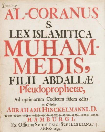 Coran - HINKELMANN Abraham. Al Qur'an wahwa...