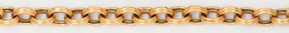 Bracelet souple en or jaune. Longueur?: 21,5cm....