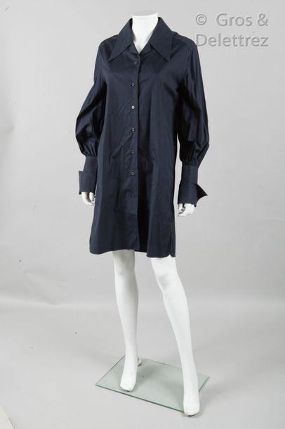 CHANEL Boutique par Karl LAGERFELD Autumn/Winter 1993-1994 Collection Black cotton...