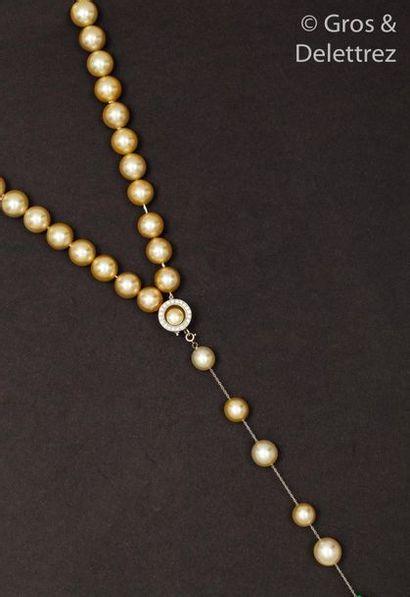 Collier de perles de culture «?Gold?»?des...