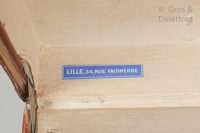 Louis VUITTON Champs Elysées N°551699, Serrure A  Malle automobile en Vuittonite...