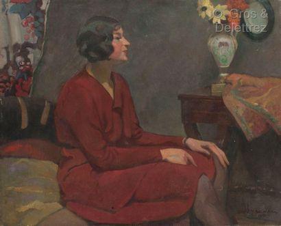 André MEAUX SAINT MARC (1885-1941)  Femme...