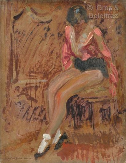 André MEAUX SAINT MARC (1885-1941)  Danseuse...