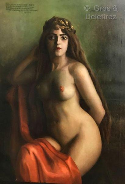 Jacques- Paul BERTRAND (1894-?)  Jeune femme...