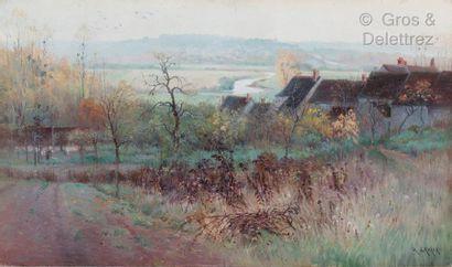 Georges Grégoire LAVAUX (1869-1949)  Paysage...