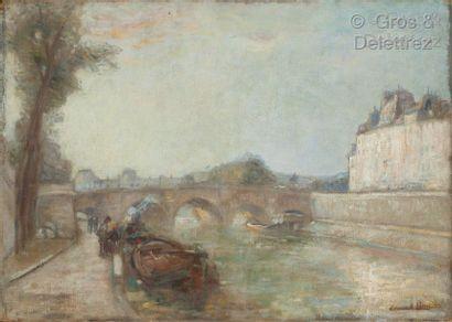 Édouard Henri LÉON (1873-1968)  Le Pont-Neuf...