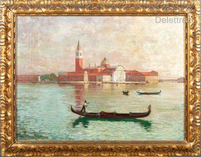 Jean-Maurice DUVAL (1871- ?)  Venise, vue...