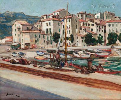 René DEYDIER (1882-1942)  Port de Menton...