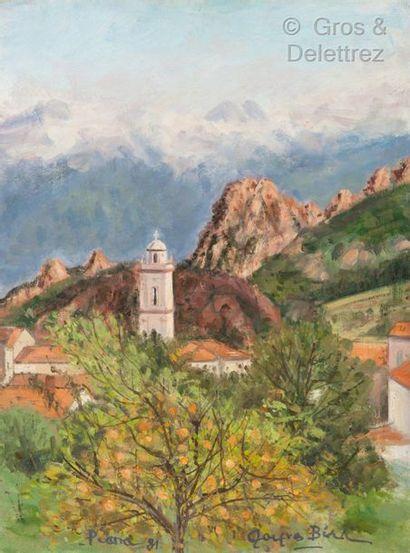 Jacques BIRR (1920-2012)  Paysage de Corse...