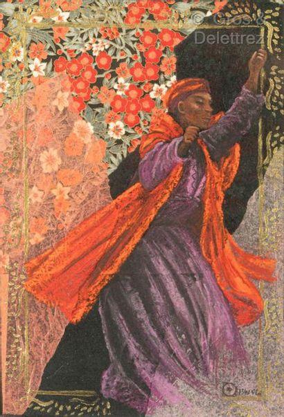 Ecole MODERNE  Le danseur africain en rouge...