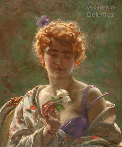 Jacques DORE (Belgique 1861 – 1929)  Elégante...
