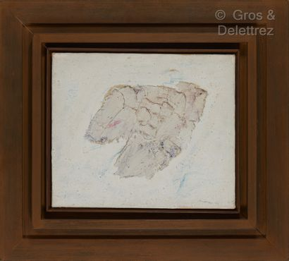 Jean FAUTRIER (1898-1964) Buste Huile sur papier marouflé sur toile Signée et datée...