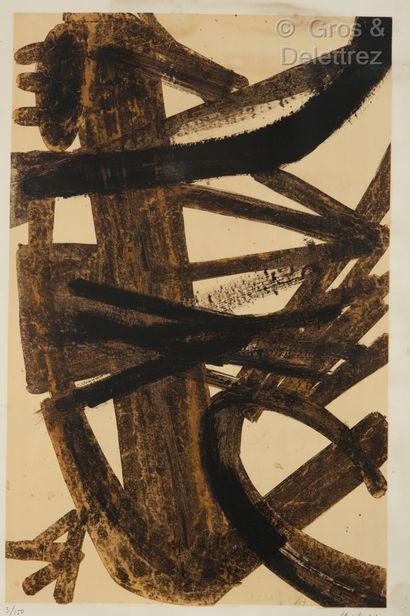 D'après Pierre Soulages (né en 1919)
