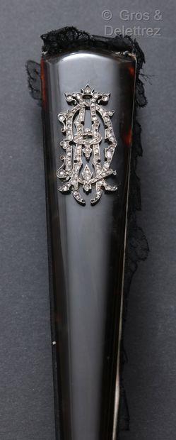 Frédéric BOUCHERON Diamants pour éventail, vers 1880-1890 Exceptionnel éventail de...