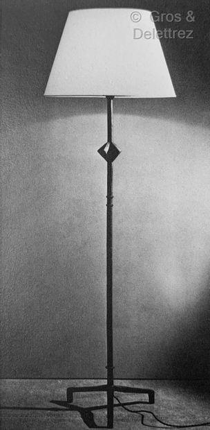 Alberto GIACOMETTI (1901-1966).pour JEAN-MICHEL FRANK (1895-1941) Lampadaire à l'étoile...