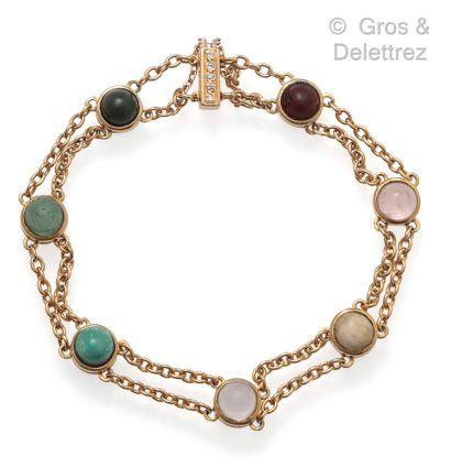 Bracelet « Acrostiche » figurant le langage...