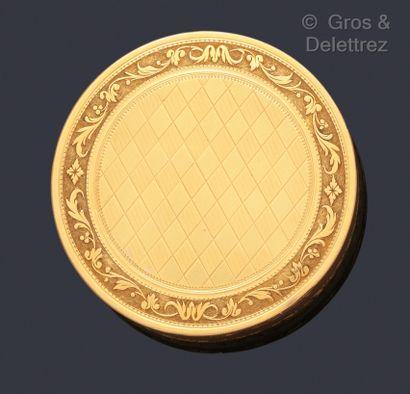Boîte «Drageoir» en or jaune à décor d'un...