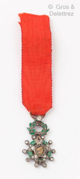 Légion d'honneur miniature en or jaune et...