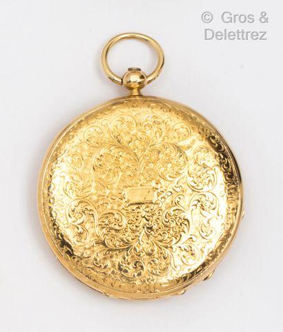 Montre « Savonnette » en or jaune, boîtier...