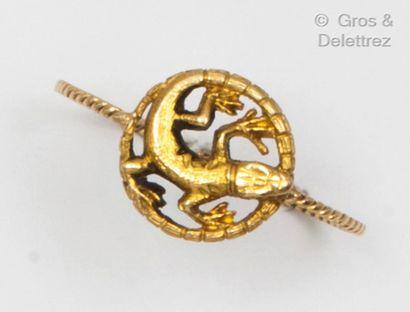 Bague «Salamandre» en or jaune, ornée d'un...