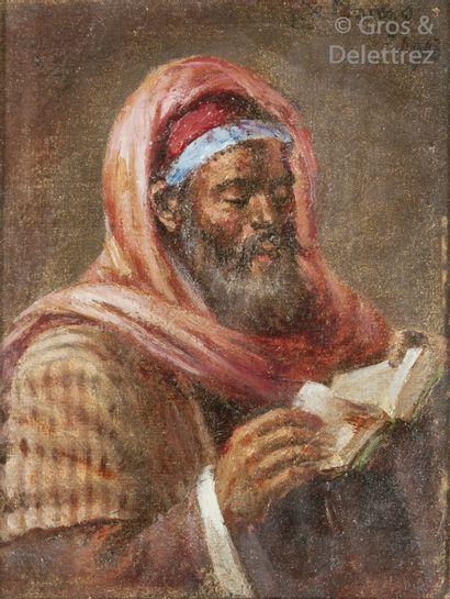 Leonardo de MANGO (1843-1930)    La lecture,...