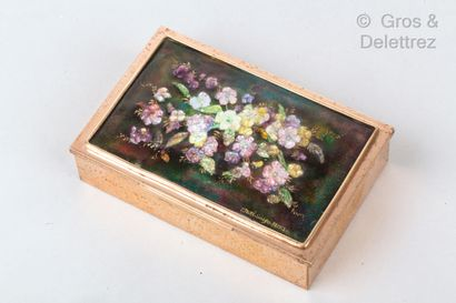 Camille FAURE (1874-1936)  Boîte rectangulaire...