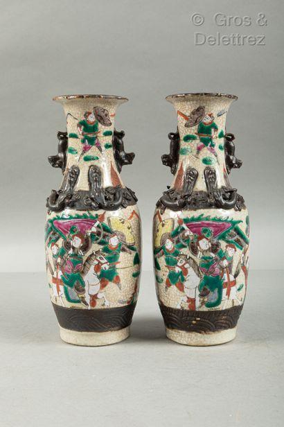 *Chine, fin XIXème siècle  Paire de petits...