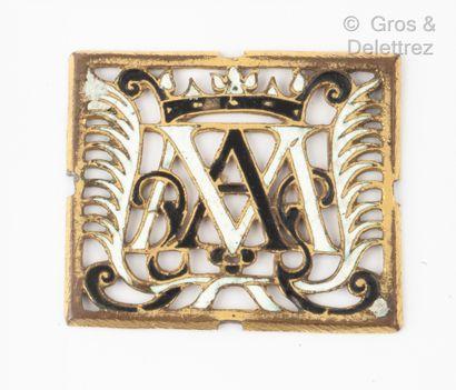 Plaque de congrégation en métal émaillé blanc...