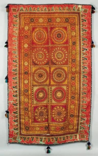 Une broderie, Inde A 20th century Indian...
