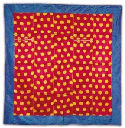 Un grand panneau de tissages ikat, Textile...