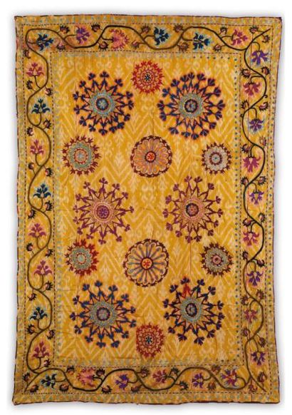 Broderie suzani, Broderie d'Asie Centrale,...