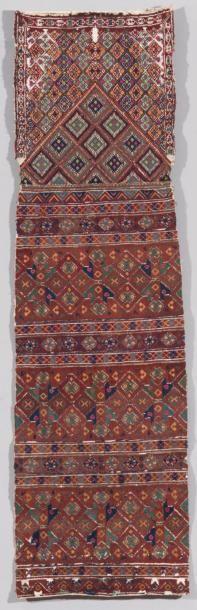 Rare coiff e brodée Ouzbek, Asie Centrale....