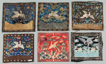 Une collection de 27 badges de Mandarin chinois...