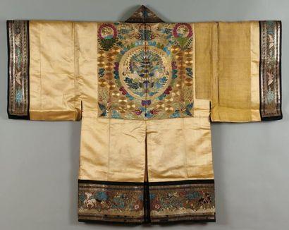 Un rare manteau chinois brodé, A noter quelques...